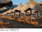 Купить «Пляж на закате», фото № 395617, снято 28 июля 2008 г. (c) Антон Голубков / Фотобанк Лори