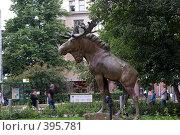 Купить «Скульптура лося в Хельсинки», фото № 395781, снято 3 августа 2008 г. (c) Андрей Некрасов / Фотобанк Лори