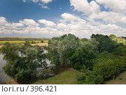 Купить «Летний пейзаж. Кубанские просторы под голубыми небесами и красивыми облаками», фото № 396421, снято 7 августа 2008 г. (c) Федор Королевский / Фотобанк Лори