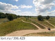 Купить «Летний пейзаж. Кубанские просторы под голубыми небесами и красивыми облаками.», фото № 396429, снято 7 августа 2008 г. (c) Федор Королевский / Фотобанк Лори