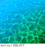 Купить «Голубая морская вода», фото № 396917, снято 12 ноября 2019 г. (c) ElenArt / Фотобанк Лори