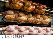 Купить «Куры гриль», фото № 398997, снято 15 июня 2008 г. (c) Сергей Лаврентьев / Фотобанк Лори