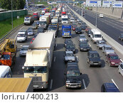 Купить «Москва. МКАД. Пробка.», эксклюзивное фото № 400213, снято 12 августа 2008 г. (c) lana1501 / Фотобанк Лори