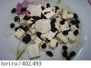 Купить «Салат с брынзой и изюмом», фото № 402493, снято 23 июня 2008 г. (c) Svetlana Bachkala / Фотобанк Лори