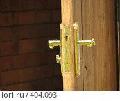 Купить «Дверная ручка 2», фото № 404093, снято 2 августа 2008 г. (c) Алексей Гунев / Фотобанк Лори