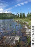 Купить «Озеро Маранкуль», фото № 405833, снято 16 августа 2018 г. (c) Николай Михальченко / Фотобанк Лори