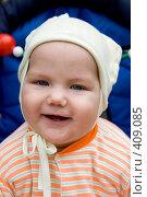 Купить «Портрет ребенка в коляске», фото № 409085, снято 11 августа 2008 г. (c) Сергей Васильев / Фотобанк Лори