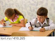 Купить «Ученики на уроке в школе», фото № 410265, снято 19 августа 2007 г. (c) Татьяна Белова / Фотобанк Лори