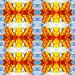 Красно-жёлтые кленовые листья на фоне неба. Бесшовный фон, иллюстрация № 412253 (c) A Челмодеев / Фотобанк Лори