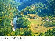 Купить «Черногорская идиллия - каньон реки Тара», фото № 415161, снято 28 августа 2007 г. (c) Fro / Фотобанк Лори