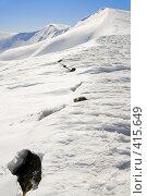 Купить «Лавина в горах Future avalanche signs», фото № 415649, снято 29 марта 2008 г. (c) Юрий Брыкайло / Фотобанк Лори