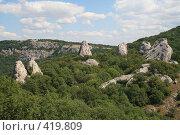 Купить «Скалы Тышлар (крымский Стоунхендж)», фото № 419809, снято 7 августа 2008 г. (c) Медведева Мила / Фотобанк Лори