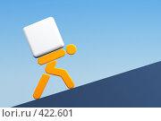Человек несет груз. Стоковая иллюстрация, иллюстратор Дмитрий Кутлаев / Фотобанк Лори