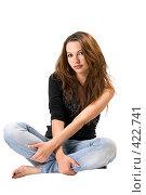 Купить «Юная красивая девушка», фото № 422741, снято 2 июля 2008 г. (c) Сергей Сухоруков / Фотобанк Лори