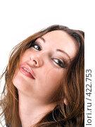 Купить «Портрет красивой девушки», фото № 422753, снято 2 июля 2008 г. (c) Сергей Сухоруков / Фотобанк Лори