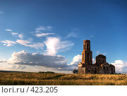 Купить «Старый Храм на закате», фото № 423205, снято 20 ноября 2018 г. (c) Владимир Кириченко / Фотобанк Лори