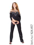 Купить «Сексуальная молодая девушка», фото № 424457, снято 2 июля 2008 г. (c) Сергей Сухоруков / Фотобанк Лори