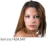 Купить «Портрет девушки», фото № 424541, снято 10 июля 2008 г. (c) Сергей Сухоруков / Фотобанк Лори