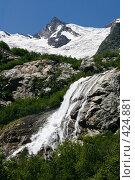 Купить «Горный водопад», фото № 424881, снято 9 августа 2008 г. (c) Иван Мельниченко / Фотобанк Лори