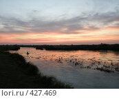 Купить «Речка на закате», фото № 427469, снято 11 августа 2008 г. (c) Фёдоров Дмитрий / Фотобанк Лори