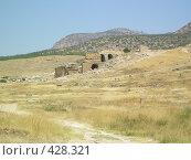 Купить «Руины древнего города Хиераполиса в Турции», фото № 428321, снято 24 июля 2007 г. (c) Сергей Карцов / Фотобанк Лори