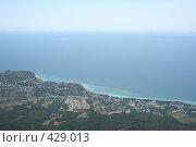 Купить «Вид на Черное море с  Айпетри», фото № 429013, снято 5 июня 2008 г. (c) Сергей Авдеев / Фотобанк Лори