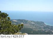 Купить «Вид на Черное море с  Айпетри», фото № 429017, снято 5 июня 2008 г. (c) Сергей Авдеев / Фотобанк Лори