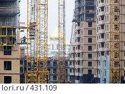 Купить «Строительство жилого квартала на Киевской улице. Санкт-Петербург.», эксклюзивное фото № 431109, снято 28 августа 2008 г. (c) Александр Щепин / Фотобанк Лори
