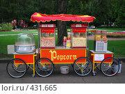 Купить «Тележка с попкорном», фото № 431665, снято 30 августа 2008 г. (c) Софья Ханджи / Фотобанк Лори