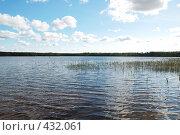 Купить «Пейзаж с озером», фото № 432061, снято 23 августа 2008 г. (c) Катыкин Сергей / Фотобанк Лори