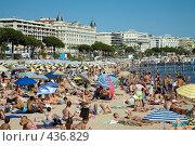 Купить «Пляж в Каннах», фото № 436829, снято 15 июля 2008 г. (c) Татьяна Лата / Фотобанк Лори