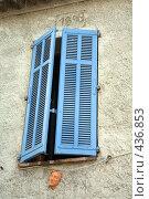 Купить «Окно деревенского дома в Провансе», фото № 436853, снято 18 июля 2008 г. (c) Татьяна Лата / Фотобанк Лори
