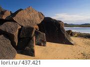 Купить «Нагромождение камней, побережье Баренцева моря», фото № 437421, снято 6 августа 2008 г. (c) Роман Коротаев / Фотобанк Лори