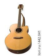 Купить «Гитара, изолировано на белом фоне», фото № 442041, снято 8 июня 2008 г. (c) Андрей Зык / Фотобанк Лори