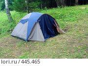 Купить «Палатка в лесу», фото № 445465, снято 20 августа 2008 г. (c) Михаил Коханчиков / Фотобанк Лори