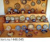 Купить «Гончарная мастерская. Посуда. Болгария 2008», фото № 448045, снято 3 сентября 2008 г. (c) anery yesmurzayeva / Фотобанк Лори