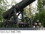 Купить «Петрозаводск. Пушка-памятник, фрагмент», фото № 448749, снято 4 августа 2008 г. (c) Морковкин Терентий / Фотобанк Лори