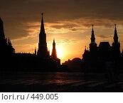 Купить «Красная площадь на закате», фото № 449005, снято 5 июля 2006 г. (c) Aleksej Penkov / Фотобанк Лори