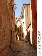 Улица в городе Лабин, Хорватия (2008 год). Стоковое фото, фотограф Лифанцева Елена / Фотобанк Лори