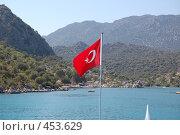 Купить «Турецкий флаг», фото № 453629, снято 15 ноября 2018 г. (c) A Большаков / Фотобанк Лори