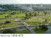 Вид с крыши библиотеки в Минске (2007 год). Стоковое фото, фотограф Юлия Яковлева / Фотобанк Лори