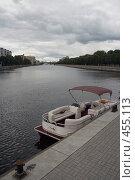 Купить «Лодка у причала», фото № 455113, снято 12 сентября 2008 г. (c) Рягузов Алексей / Фотобанк Лори