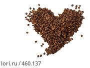 Купить «Кофейные зерна в форме сердца», фото № 460137, снято 12 сентября 2008 г. (c) Лисовская Наталья / Фотобанк Лори