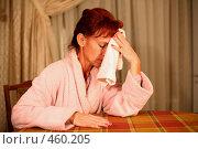 Купить «Женщина, страдающая головной болью», фото № 460205, снято 16 сентября 2008 г. (c) Vdovina Elena / Фотобанк Лори
