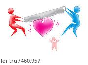 Предразводный конфликт. Стоковая иллюстрация, иллюстратор Олеся Сарычева / Фотобанк Лори