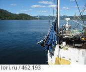 Фрагмент парусника. горы на заднем плане (2008 год). Стоковое фото, фотограф Anna Marklund / Фотобанк Лори