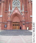 Купить «Вход в католический храм», фото № 464649, снято 2 сентября 2008 г. (c) Ольга Батракова / Фотобанк Лори