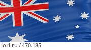 3Д  флаг Австралии. Стоковая иллюстрация, иллюстратор Панюков Юрий / Фотобанк Лори