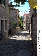 Купить «Улица города Грожнян, Хорватия», фото № 472709, снято 19 августа 2008 г. (c) Pukhov K / Фотобанк Лори
