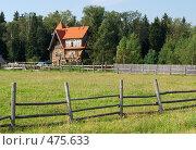 Купить «Земельный участок и большой загородный дом», фото № 475633, снято 16 августа 2008 г. (c) Дмитрий Яковлев / Фотобанк Лори